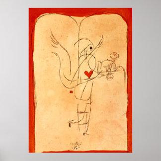 Poster Klee - um espírito serve um pequeno almoço pequeno