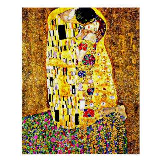 Pôster Klimt - as belas artes do beijo (comprimento