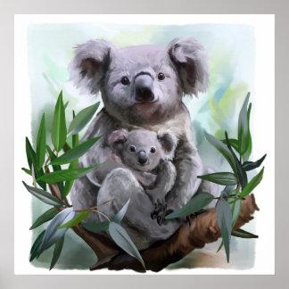 Pôster Koala e seu bebê