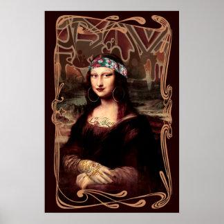 Pôster La Chola Mona Lisa