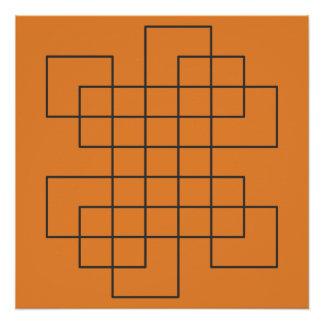 Pôster Labirinto na laranja