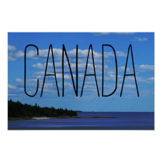Poster Lago superior canadense side |