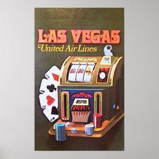 Pôster Las Vegas (linhas de ar unidas)