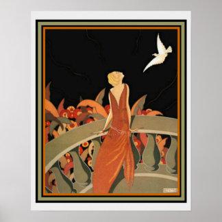 "Poster ""Le Messager"" por Halouze Ca 1925 16 x 20"