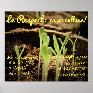 Pôster Le Respeito: SE do ça cultive!