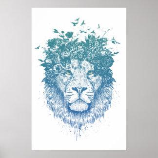 Pôster Leão floral