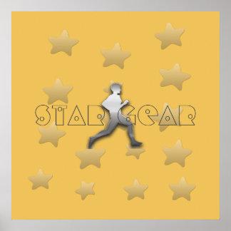 Poster legal do atletismo do basculador da