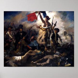 Poster Liberdade que conduz as pessoas -- Revolução Franc