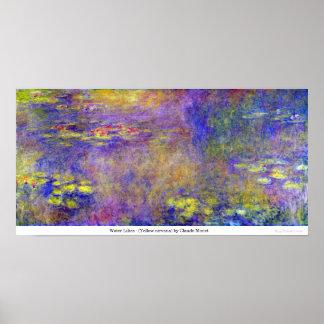 Poster Lírios de água - (nirvana amarelo) por Claude