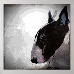 poster liso da arte de bull terrier do inglês