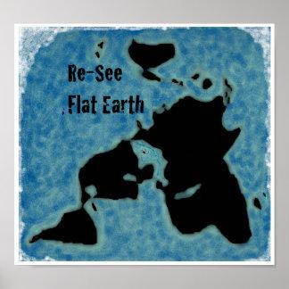 Poster liso do mapa da terra