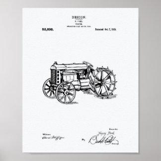 Pôster Livro Branco da arte da patente do trator 1919