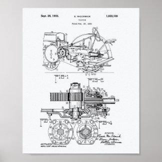 Pôster Livro Branco da arte da patente do trator 1932