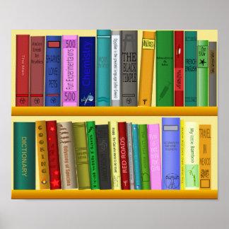 Pôster Livros coloridos sala de aula ou sala do miúdo da