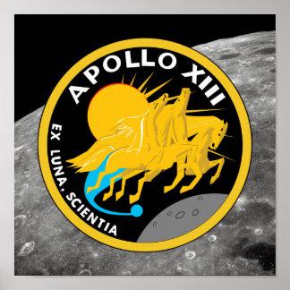 Poster Logotipo do remendo da missão da NASA de Apollo 13