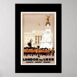 Poster Londres das viagens vintage