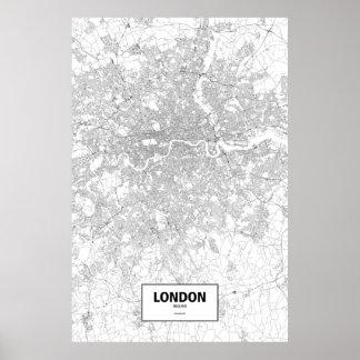 Poster Londres, Inglaterra (preto no branco)