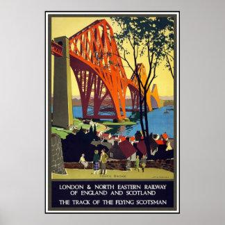 Poster Londres Scotland das viagens vintage