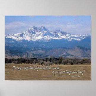 Pôster Longs a foto máxima de Colorado com citações