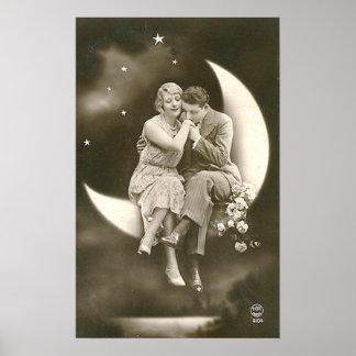 Poster Lua de papel