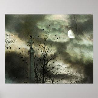 Pôster Lua delével do corvo
