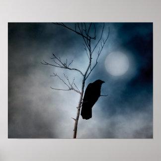 Pôster Lua temperamental do corvo