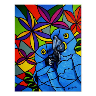 "Poster ""Macaw"" - Poster ""Arara"""