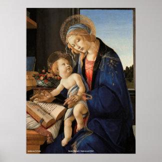 Pôster Madonna e criança