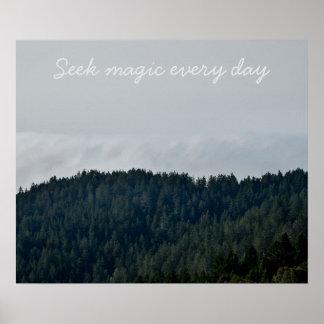 Poster Mágica da busca cada dia
