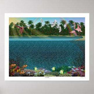 """Poster mágico 20"""" do """"recife de corais"""" de Eye® 3D"""