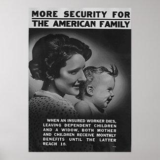 Poster Mais segurança para a família americana