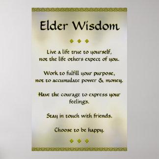 Poster mais velho do ouro da sabedoria