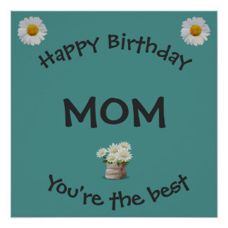 Pôster Mamã do feliz aniversario