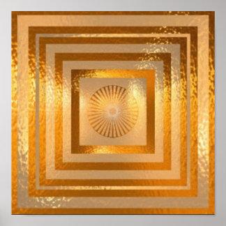 Poster Mandala da faísca do OURO