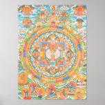 Pôster Mandala de Avalokiteshvara