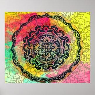 Poster Mandala do arco-íris