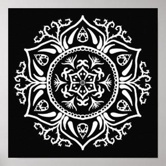 Poster Mandala do corvo