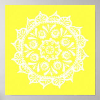 Pôster Mandala do limão