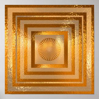 Pôster Mandala dourada de Sun - cordialmente