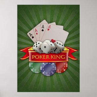 Pôster Mania do póquer - os cartões, cortam, lascam-se