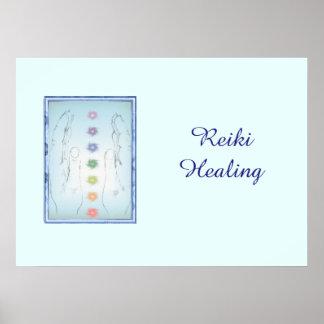 Poster Mãos curas de Reiki