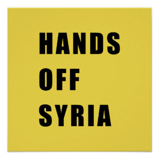 Pôster Mãos fora de Syria