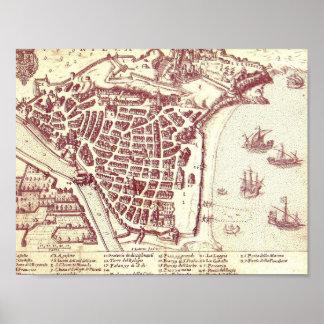Pôster Mapa agradável de France