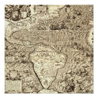 Pôster Mapa do mundo de América por Diego Gutiérrez