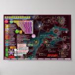Poster-Mapa interestelar - solitário da fronteira