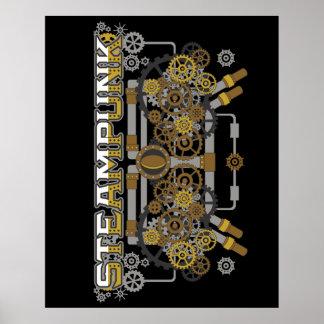 Pôster Máquina das engrenagens e das tubulações de