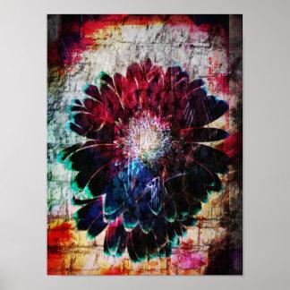Poster Margarida abstrata do Gerbera