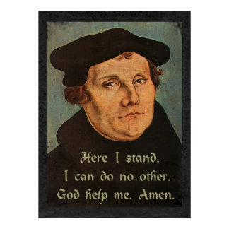 Poster Martin Luther aqui eu estou a cotação religiosa