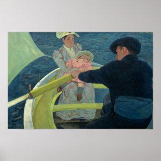 Poster Mary Cassatt - o partido do barco