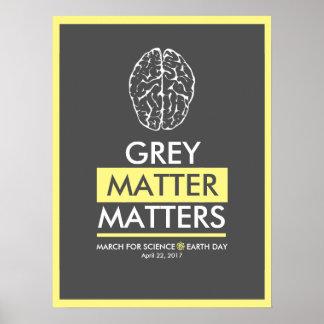 Poster Matérias da matéria cinzenta